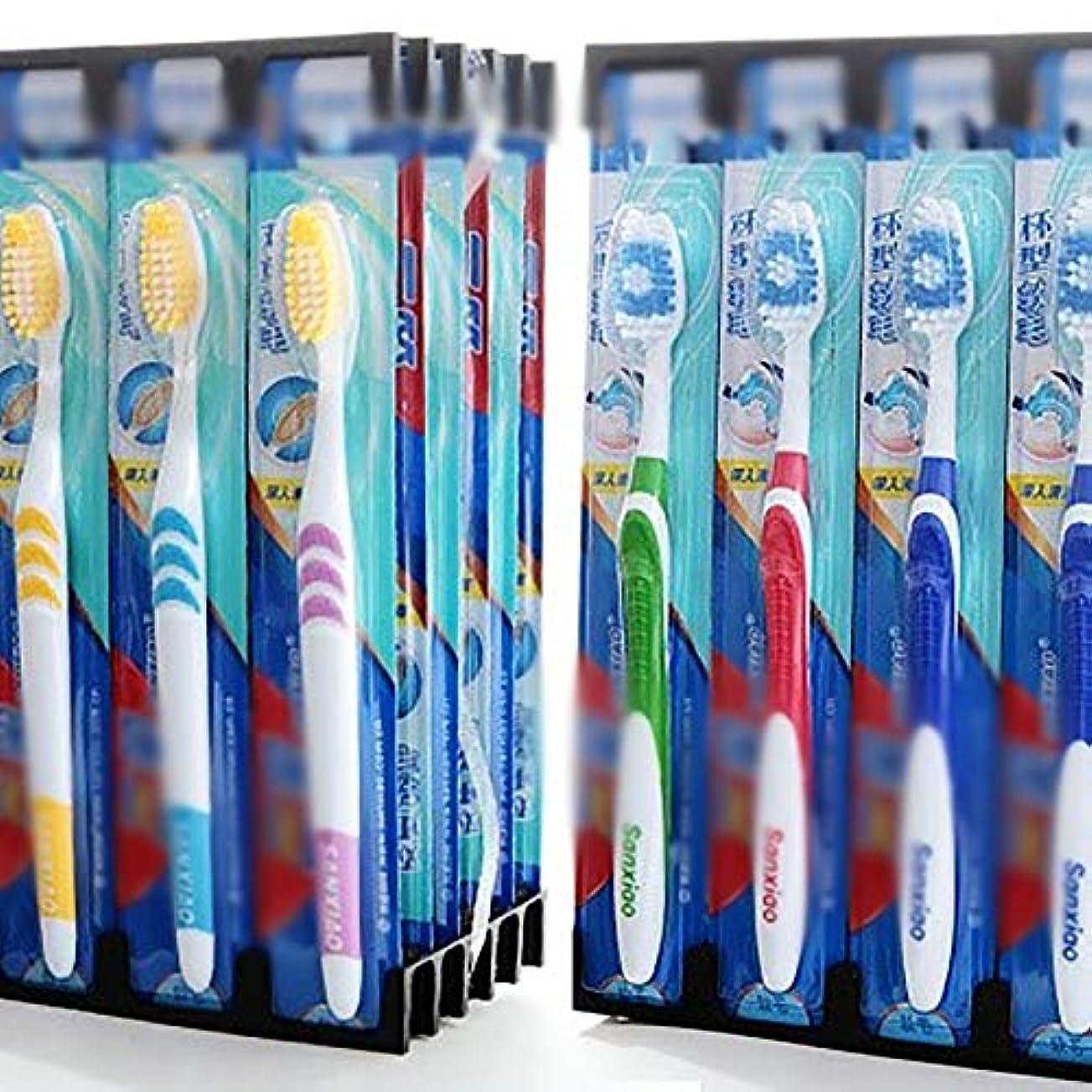 レジ解く三歯ブラシ 30ミックス歯ブラシ、個々の歯ブラシ包まれた、ウルトラソフト歯ブラシ - 使用可能なスタイルの3種類 KHL (色 : C, サイズ : 30 packs)