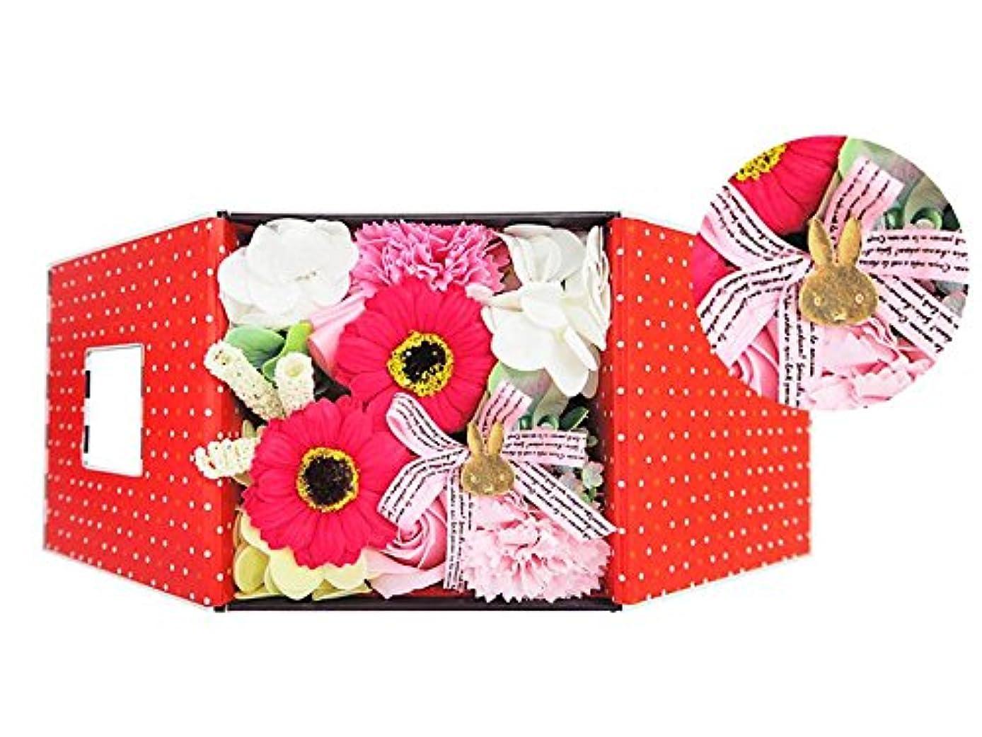 段落キャンドル受け皿お花のカタチの入浴剤 ミッフィーバスフレグランスボックス 誕生日 記念日 お祝い (ピンク)