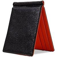 アルーダ(ALUDA) マネークリップ メンズ 革 二つ折り 薄い 財布 カード4枚収納可能【日本円ぴったりサイズ】