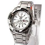 SEIKO5 セイコー5 腕時計 オートマチック メンズウォッチ SNZJ03J1 シルバー 逆輸入品