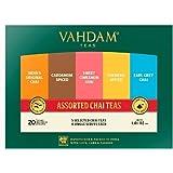 VAHDAM, Chai Tea Sampler, 5 TEAS - Tea Variety Pack | Assorted Chai Tea Bags | Cardamom Tea Bags, Cinnamon Tea Bags, Turmeric