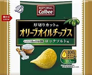 カルビー NATURALCalbeeオリーブオイルチップス ロックソルト味 37g×12袋