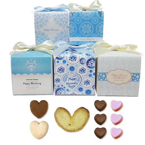 プチギフト お菓子詰め合わせ『サムシングブルーグルメCC(チョコ&クッキー&パイ)1箱』春 会社 大量 業務用 結婚式 イベントギフト 販促(重要:10個以上でご注文下さい)