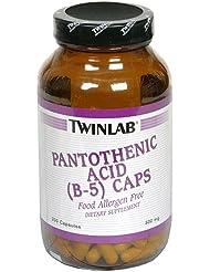 Twinlab - B5パントテン酸 500 mg。200カプセル