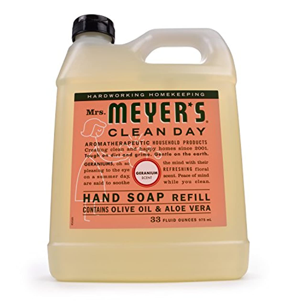 可能にする所属穏やかなMrs. Meyer's Clean Day Liquid Hand Soap Refill,33 oz,Geranium by Mrs. Meyer's Clean Day