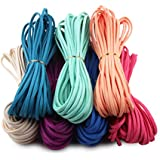 (New Suede) - Candygirl Micro-Fibre Flat Leather Lace Beading Thread Faux Suede Cord String Velet