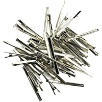 MagiDeal 50 Pieces 60mm/80mm Single Prong Metal Alligator Hair Clips Hairpins Teeth Bows Hair Clips Hairdressing Salon Hair Grip DIY Accessories