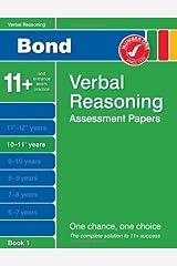 Bond Fourth Papers in Verbal Reasoning 10-11+ Years Paperback