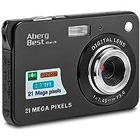 Aberg Best 21メガピクセル 2.7インチ LCD 充電式 HD デジタルカメラ ビデオカメラ デジタル学生向きカメラ インドア アウトドア 大人 高齢者 子供用