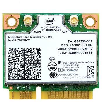 インテル デュアルバンド 高速 Wi-Fi 通信Band Wireless-802.11 AC Intel 7260 無線LANカード 7260HMW