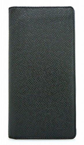 [ルイ ヴィトン] LOUIS VUITTON タイガ ポルトフォイユ ブラザ 2つ折長財布 カーフ レザー アルドワーズ 黒 ブラック メンズ M32572 [中古]