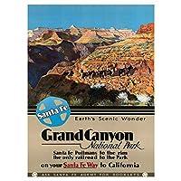 TRAVEL TOURISM GRAND CANYON NATIONAL PARK USA FINE ART PRINT POSTER 30X40 CM 12X16 IN 旅行ツアーグランドキャニオン国立公園アメリカ合衆国アートプリントポスター