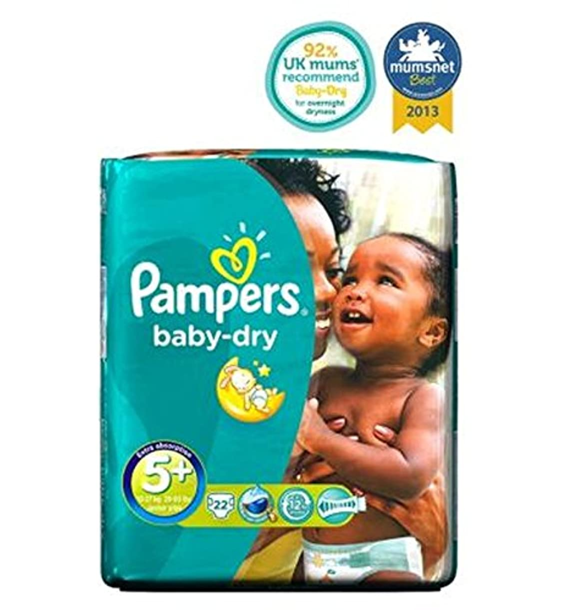 Pampers Baby-Dry Nappies Size 5+ Carry Packs - 22 Nappies - パンパースベビードライおむつサイズ5+パックを運ぶ - 22おむつ (Pampers) [並行輸入品]