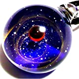 匠の技 神秘的な 宇宙 銀河 ガラス ネックレス ペンダント 太陽 惑星 メンズ レディース 002