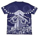 太鼓の達人 オールプリントTシャツ ナイトブルー Lサイズ