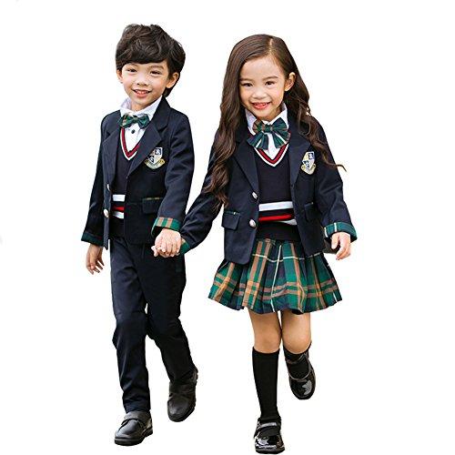 卒業式 スーツ 女の子 Cuteshower 子供服 フォーマル 入学式 スーツ キッズ ジュニア 5点セット 110cm