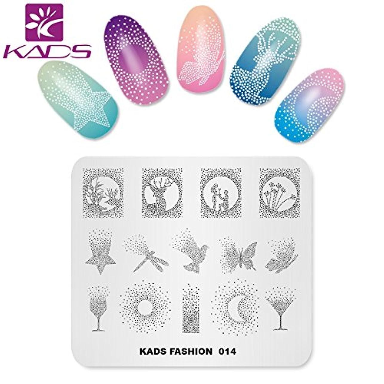 注釈を付ける隣接するそのKADS ネイルスタンププレート ネイルステンシル ネイルイメージプレート ファッションスタイル … (FA014)