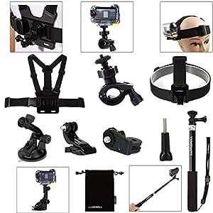 Luxebell®ソニーアクセサリセット Sony Action Cam ソニーアクションカムHDR-AS15/ AS20/ as30v/ as100v/ as200v/ソニーアクションカムHDR-AZ1ミニソニーFDR-x1000v汎用 (7in1-sony)