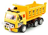 ワイヤレスリモコンカーエンジニアリング車ショベルコンクリートラダートラッククレーンおもちゃの車の充電(Yellow)