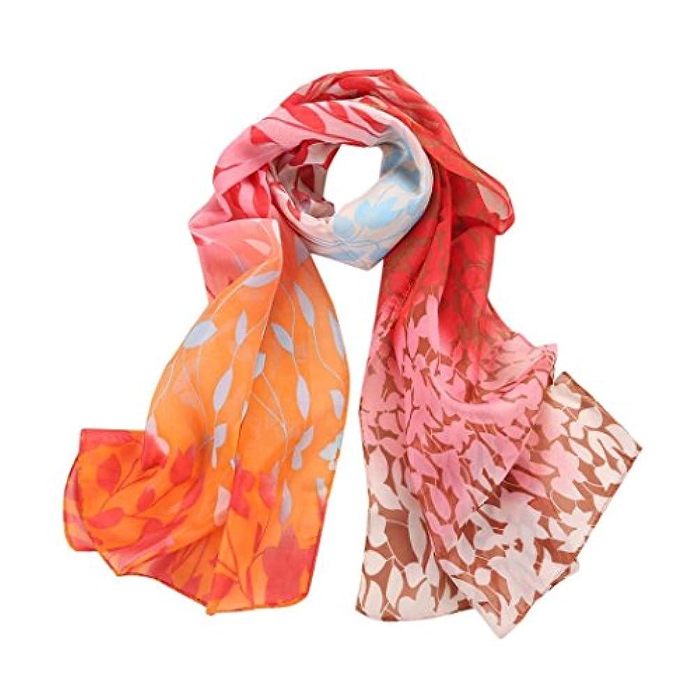 大騒ぎスリーブ結晶Feiscat スカーフ マフラー レディース とっても上品 UV紫外線対策 冷房対策 日焼け止め オレンジ エレガント 海辺 豪華 華奢 ファッション
