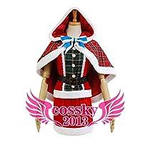 【cosplaysky】 ラブライブ! Love Live! 絢瀬絵里 SR覚醒後 クリスマス コスプレ 衣装 男性M