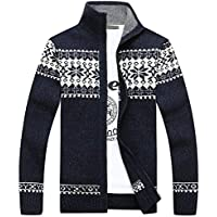 Previn Men's Cardigan Sweater Knitted Long Sleeve Snow Classic Knitwear Thermal Zipper Coats