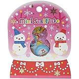 JAGENIE 71 Pcs Christmas DIY Snowman Glitter Sticker Envelope Seal Label Note Book Decor