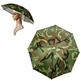 Twinkle Store 傘帽子 かぶる 傘 フリーハンド アンブレラ 直径50cm 軽量100g 日避 釣り 屋外イベント スポーツ観戦 キャンプ アウトドア に (迷彩柄)人気