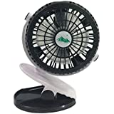 Perfeclan 小型 クリップ 扇風機 3段階の風力 360°の垂直回転と水平回転 夏 不可欠用品  全4色選べる  - ブラック