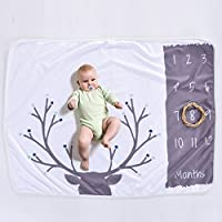 JlRqY Baby MonthlyマイルストーンGrowing毛布新生児幼児毛布DIY写真背景Props Personalized記念品Best Gifts For Baby