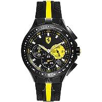 [フェラーリ]FERRARI メンズ RACE DAY クロノグラフ ブラック シリコン 830025 腕時計 [並行輸入品]