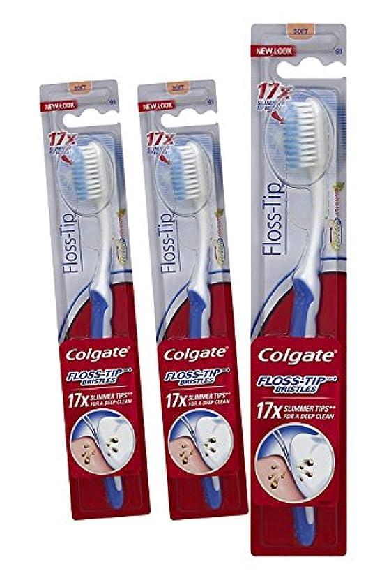 表現アッティカスアッパー(3 Pack) Colgate Total Advanced, Floss-Tip Toothbrush, Soft by Colgate-Polmolive