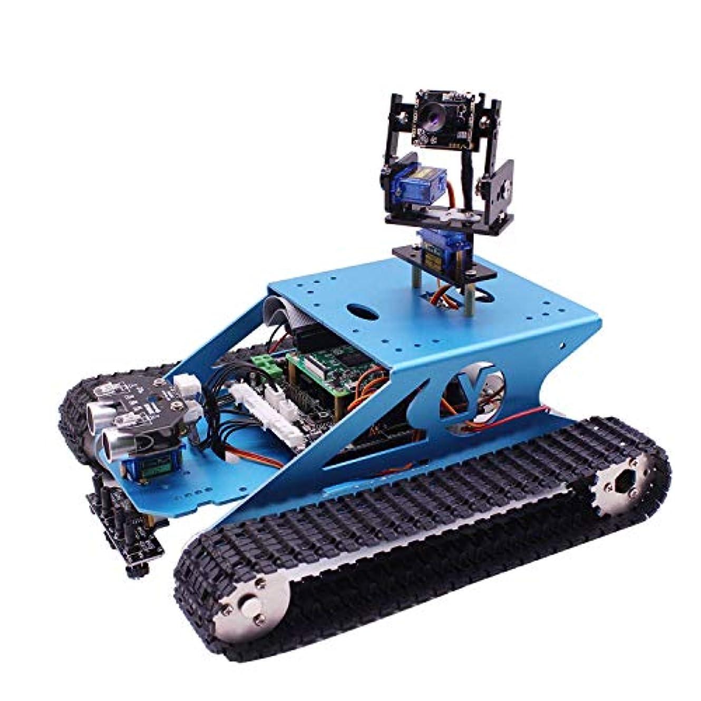 債権者作業滅多Raspberry Pi タンクスマートキットキットWiFiワイヤレスビデオプログラミング電子玩具DIYロボットキット子供と大人互換性のRPI 3 B / 3 B + (Raspberry Pi なしで)