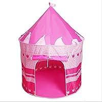 URTop キュートな子ども用ビーチ テント 赤ちゃん 女の子 玩具 遊べる家 持ち運び可能 プリンセス プリンス お城 屋内 屋外 おもちゃテント Lサイズ 105x135x80cm