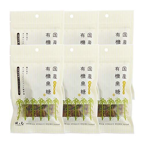 国産有機黒糖(かち割り) ×6袋