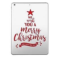 iPad Air2 スキンシール apple アップル アイパッド A1566 A1567 タブレット tablet シール ステッカー ケース 保護シール 背面 人気 単品 おしゃれ クリスマス ツリー 英語 013858