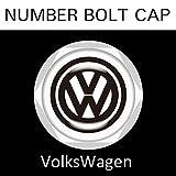 【Volkswagen】【ナンバープレート用】VW フォルクスワーゲン ナンバーボルトキャップ NUMBER BOLT CAP 3個入りセット タイプ1 ブラガ (¥ 2,200)