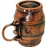 Objet D'Art Release #386 'Aged In Oak' Wine & Whiskey Cask Handmade Jeweled Metal & Enamel Trinket Box [並行輸入品]