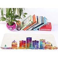 超无味无臭マウスパッド80x30大サイズマウスパッドを、彩色抽象摩天楼现代建筑水彩マークに饰ります