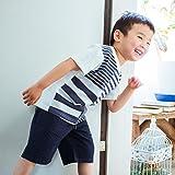 (ザ ショップ ティーケー) THE SHOP TK ボーダー×ストライプTシャツ 23812026 11(110cm) オフホワイト(003)