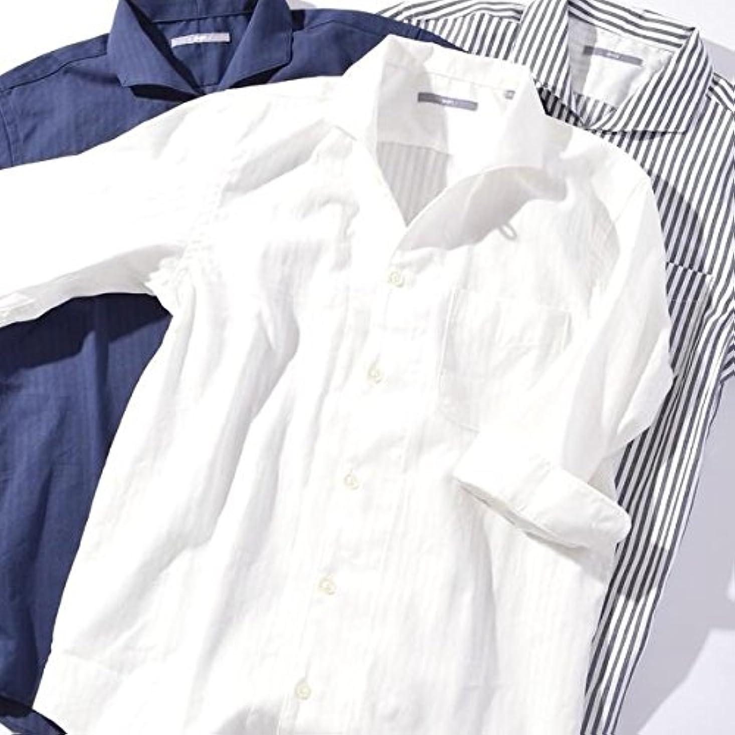 威信桃群集シップス(メンズ)(SHIPS) SU: アーバンカラー 7スリーブシャツ【ホワイト/LARGE】