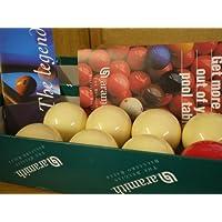 バービリヤードテーブル – ベルギーAramithビリヤードBallsバー; 7ホワイト& 1 Red、すべて1 7 / 8インチby SGL