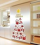 ウォールステッカー クリスマス ガラス 壁 かわいサンタさんのスイッチシールセット