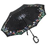 Amazon.co.jpPLEMO 長傘 逆さ傘 逆折り式傘 UVカット 晴雨兼用 手離れC型手元 耐風傘 撥水加工 ビジネス用車用 自分用 プレゼント用に最適 124センチ