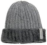 ギグアント(GiGant) 紳士用 ボア ニット帽 シニア 帽子 メンズ キャップ 防寒 ボア (グレー)