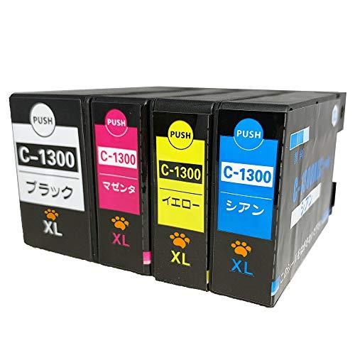 CANON キャノン PGI-1300XL (BK/C/M/Y) 全色大容量4色セット LED&残量表示可能ICチップ付 互換インクカー...