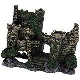 MagiDeal Classic Character Buildings Castle Ruin Fish Tank Aquarium Landscaping Underwater Ornament Decor