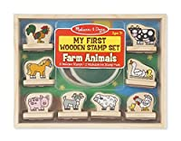 My First Wooden Stamp Set - Farm Animals [並行輸入品]