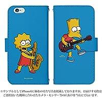 iPhoneX 手帳型 ケース [デザイン:design.5] ザ・シンプソンズ ミュージック The Simpsons 公認ライセンス アイフォン スマホ カバー