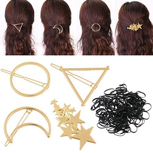 PIXNOR フレームピン ヘアバレッタ 髪留め ヘアクリップ 髪飾り 4本セット